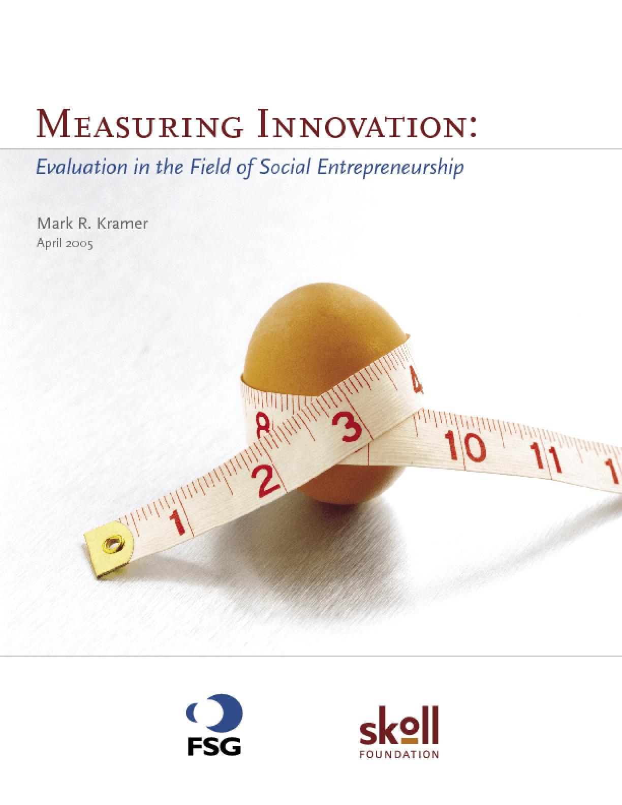 Measuring Innovation: Evaluation in the Field of Social Entrepreneurship