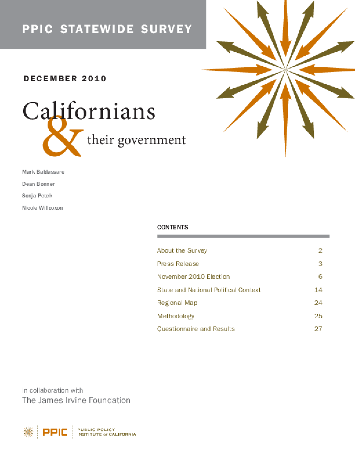 PPIC Statewide Survey: Californians and Their Government 2010
