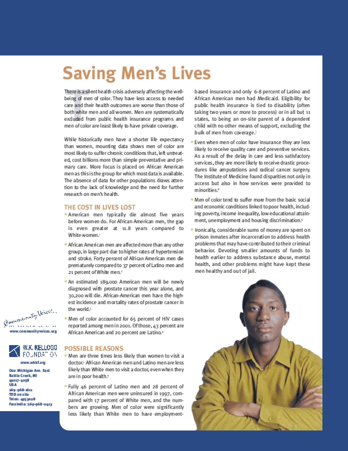 Saving Men's Lives