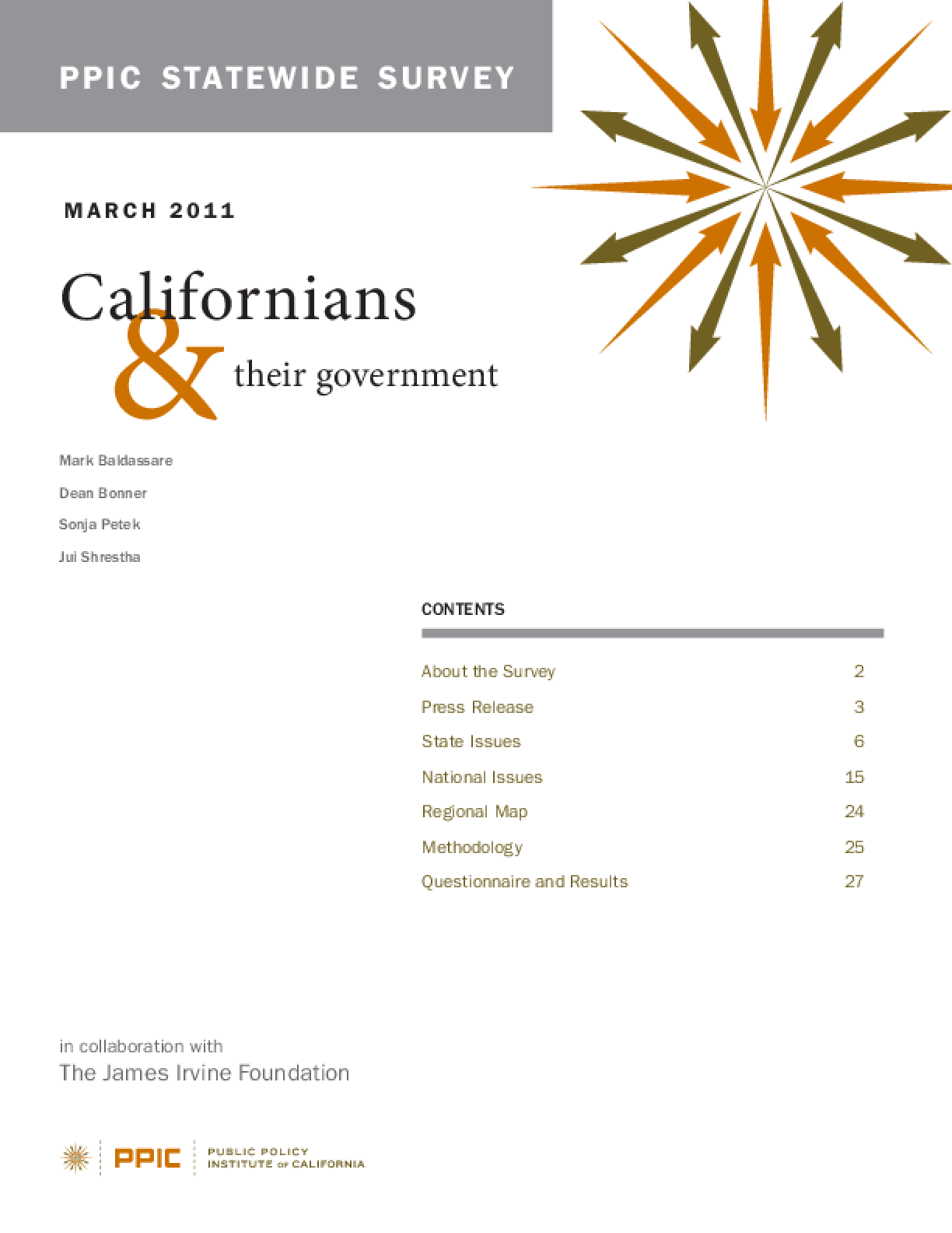 PPIC Statewide Survey: Californians and Their Government March 2011