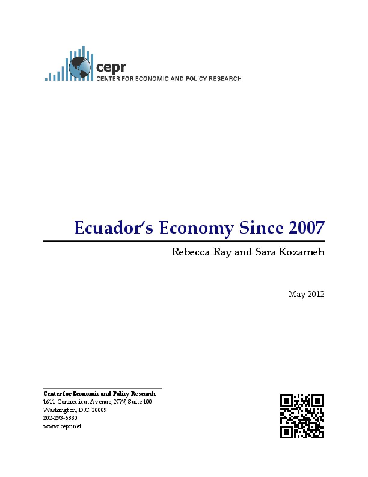 Ecuador's Economy Since 2007