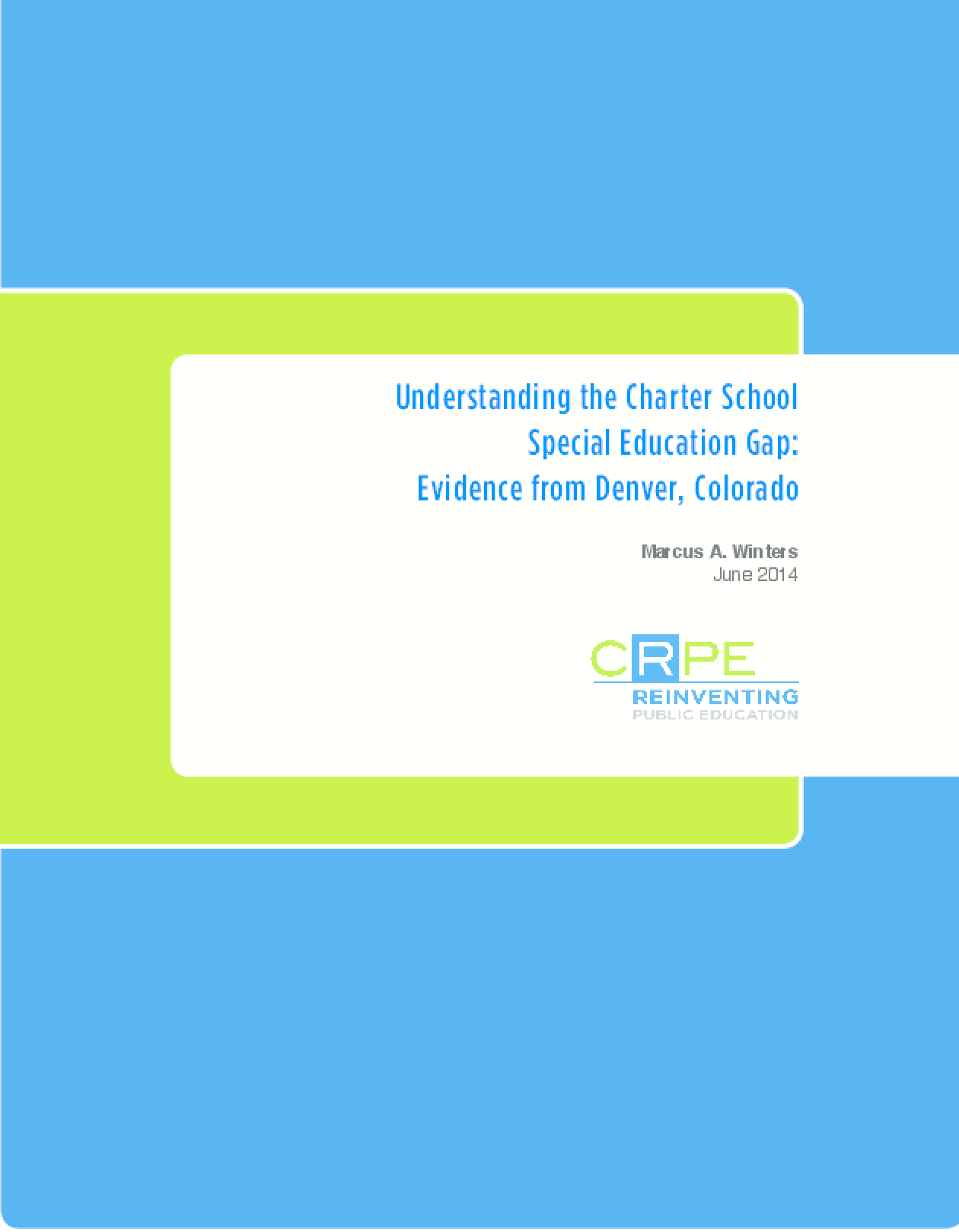 Understanding the Charter School Special Education Gap: Evidence from Denver, Colorado