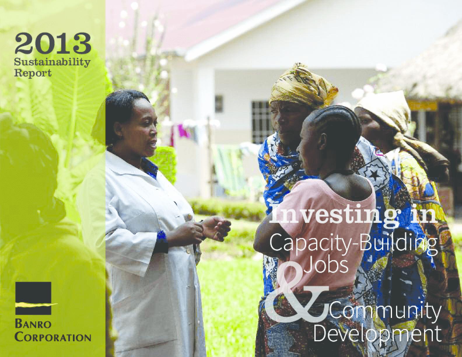 Banro Corporation 2013 CSR Report: Partners in Community Development