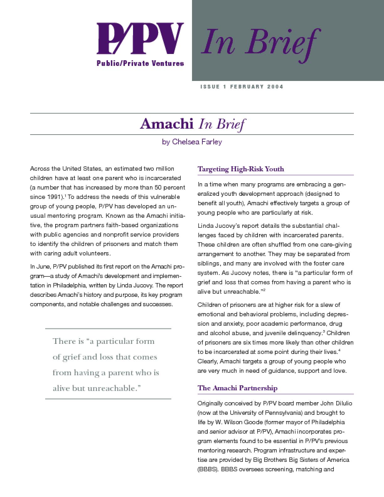 Amachi In Brief