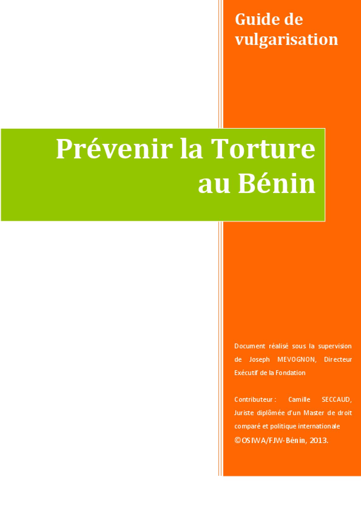 Prévenir la Torture au Benin