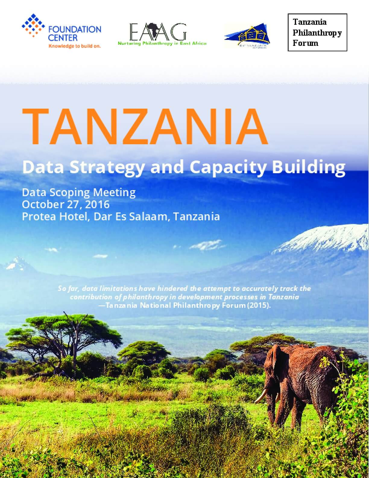 Tanzania: Data Strategy And Capacity Building