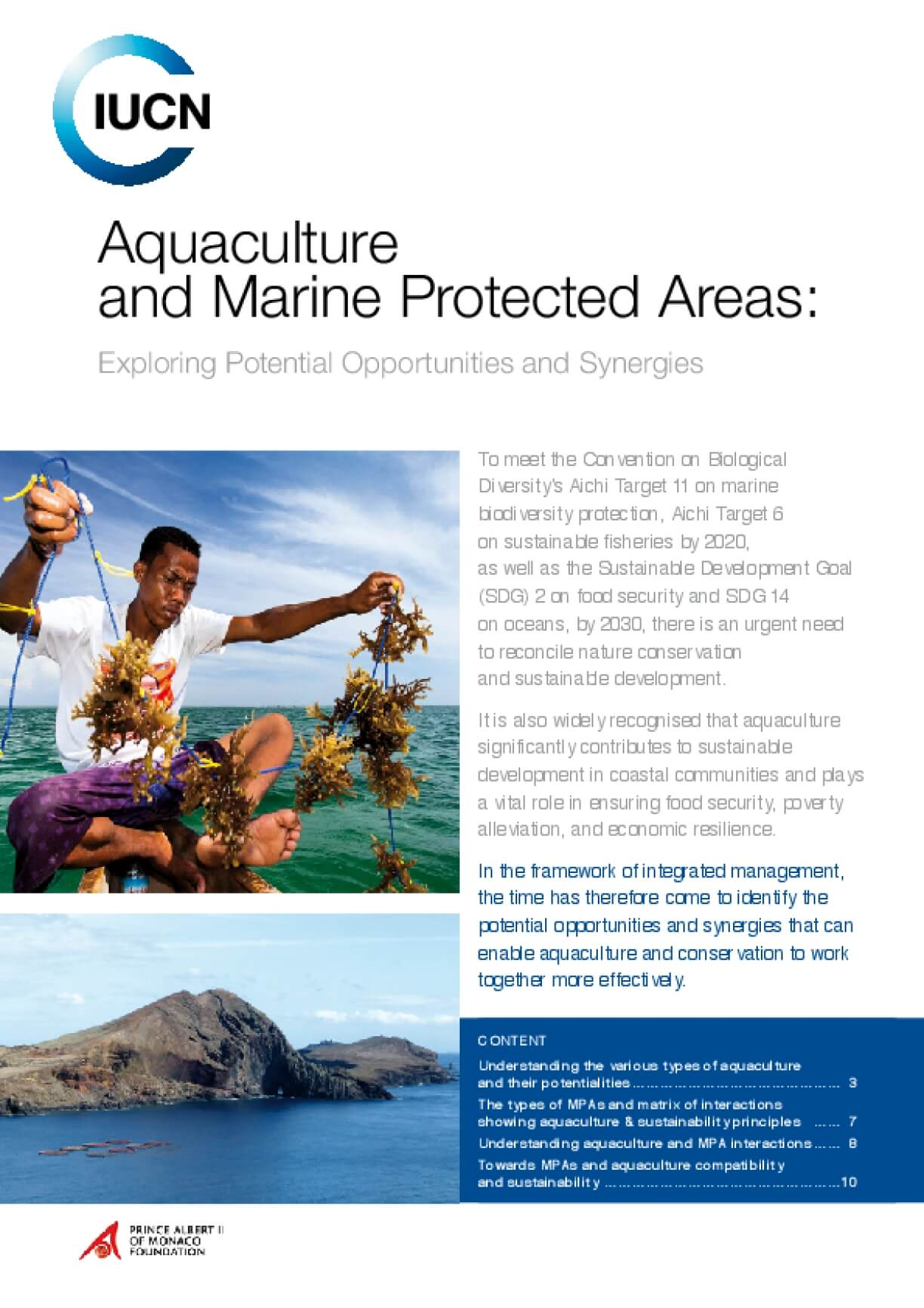 Aquaculture and Marine Protected Areas: Exploring Potential Opportunities and Synergies