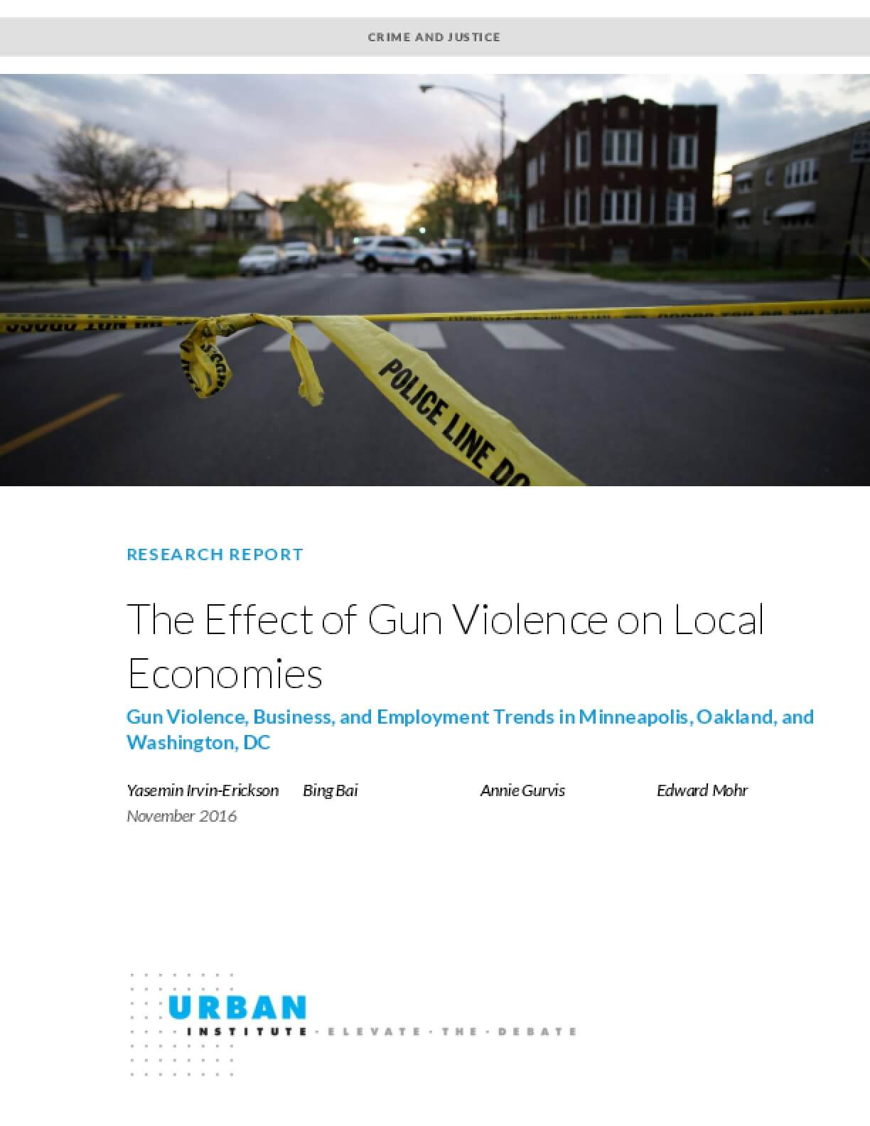 The Effect of Gun Violence on Local Economies