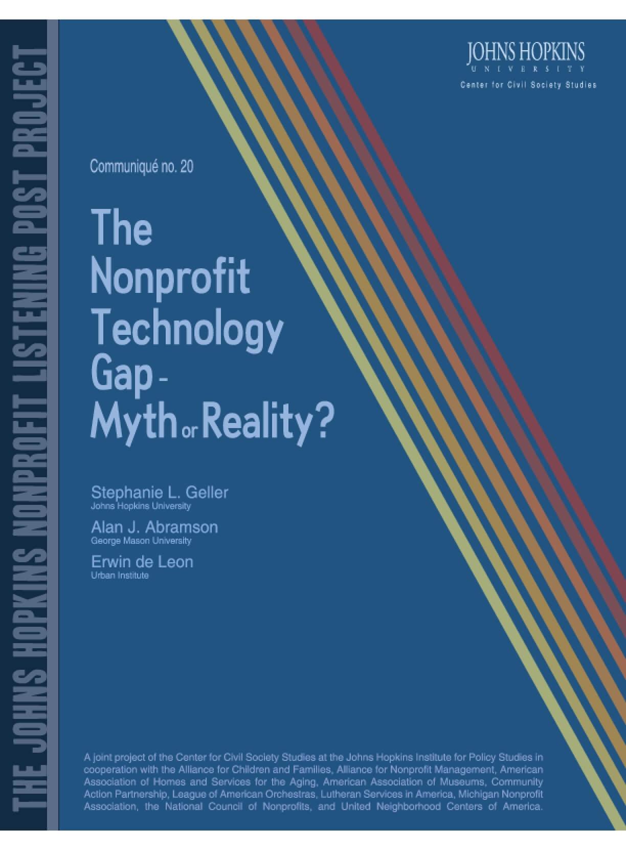The Nonprofit Technology Gap - Myth or Reality?