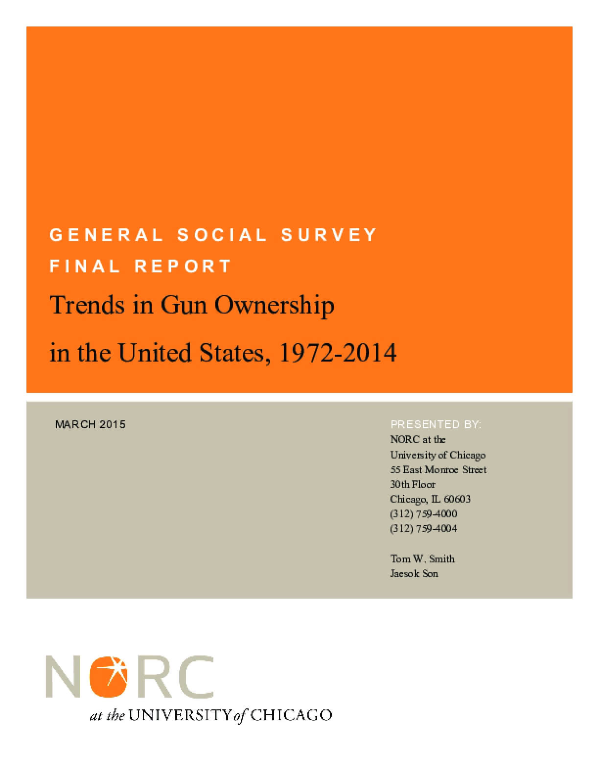 Trends in Gun Ownership in the United States, 1972-2014