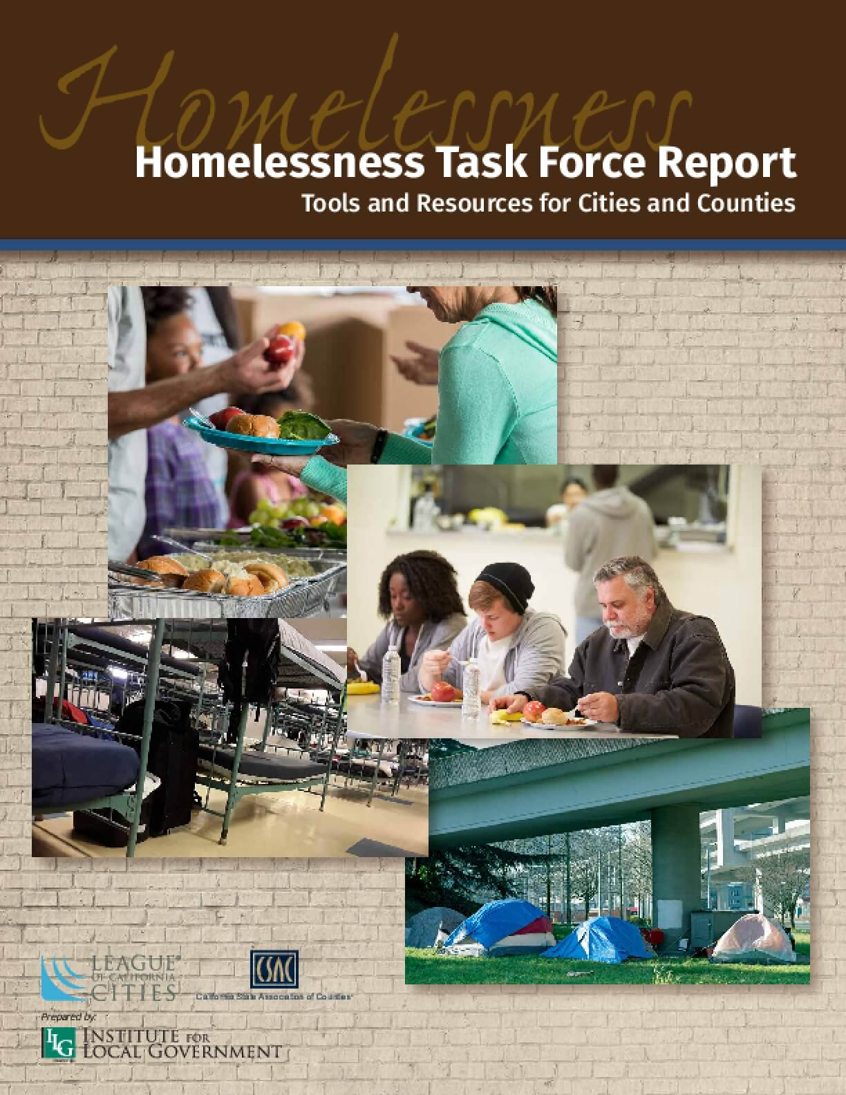 Homelessness Task Force Report: Tools and Resources for Cities and Counties