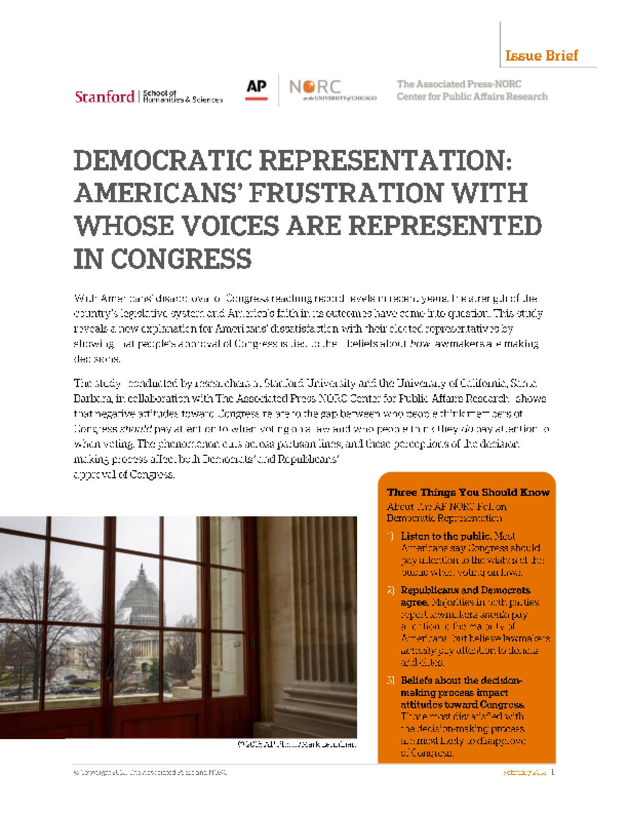 Democratic Representation: Americans' Frustration with Whose Voices are Represented in Congress