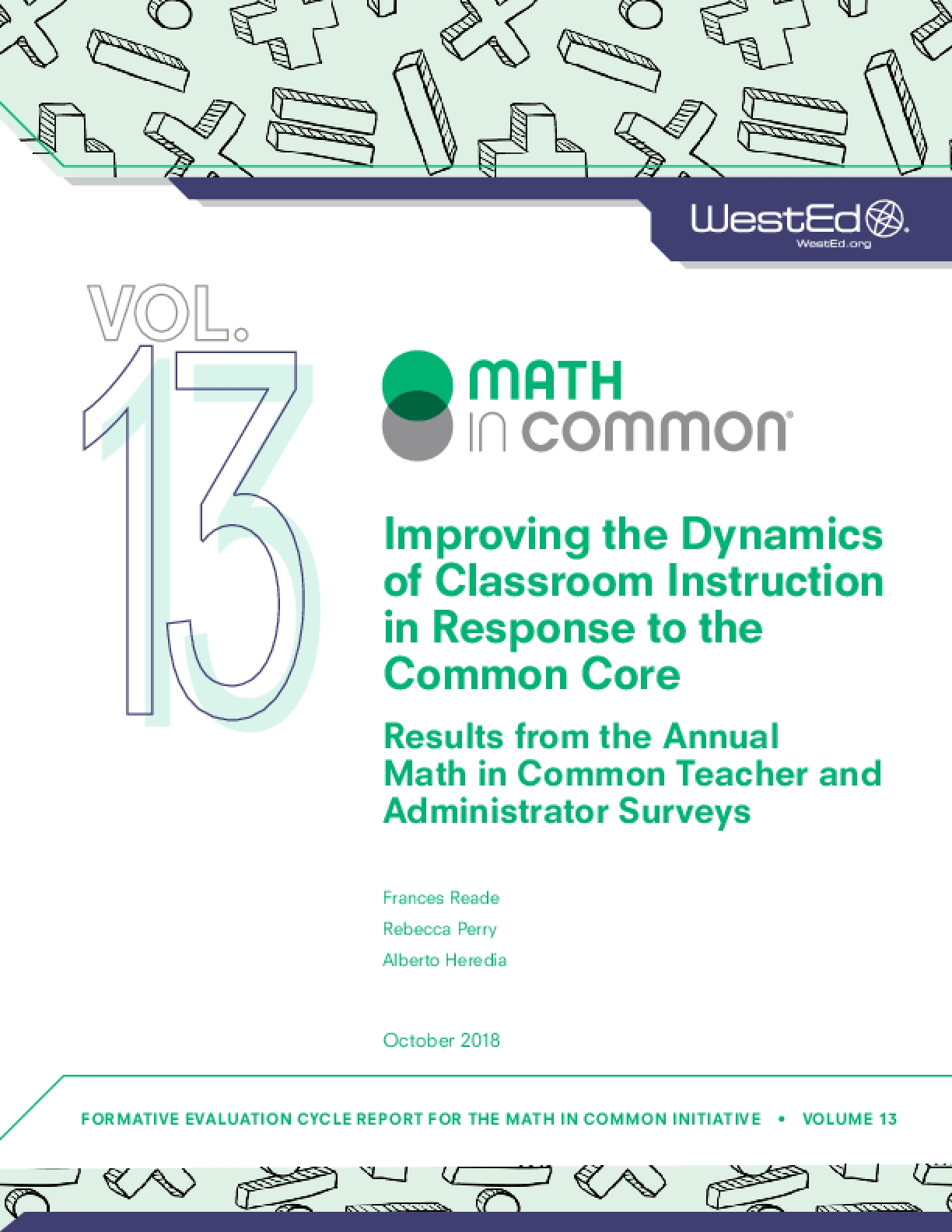 Improving the Dynamics of Classroom Instruction in Response to the Common Core