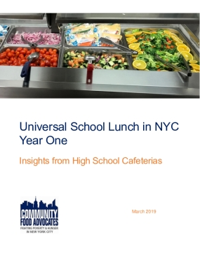 Universal School Lunch in NYC Year One: Insights from High School Cafeterias