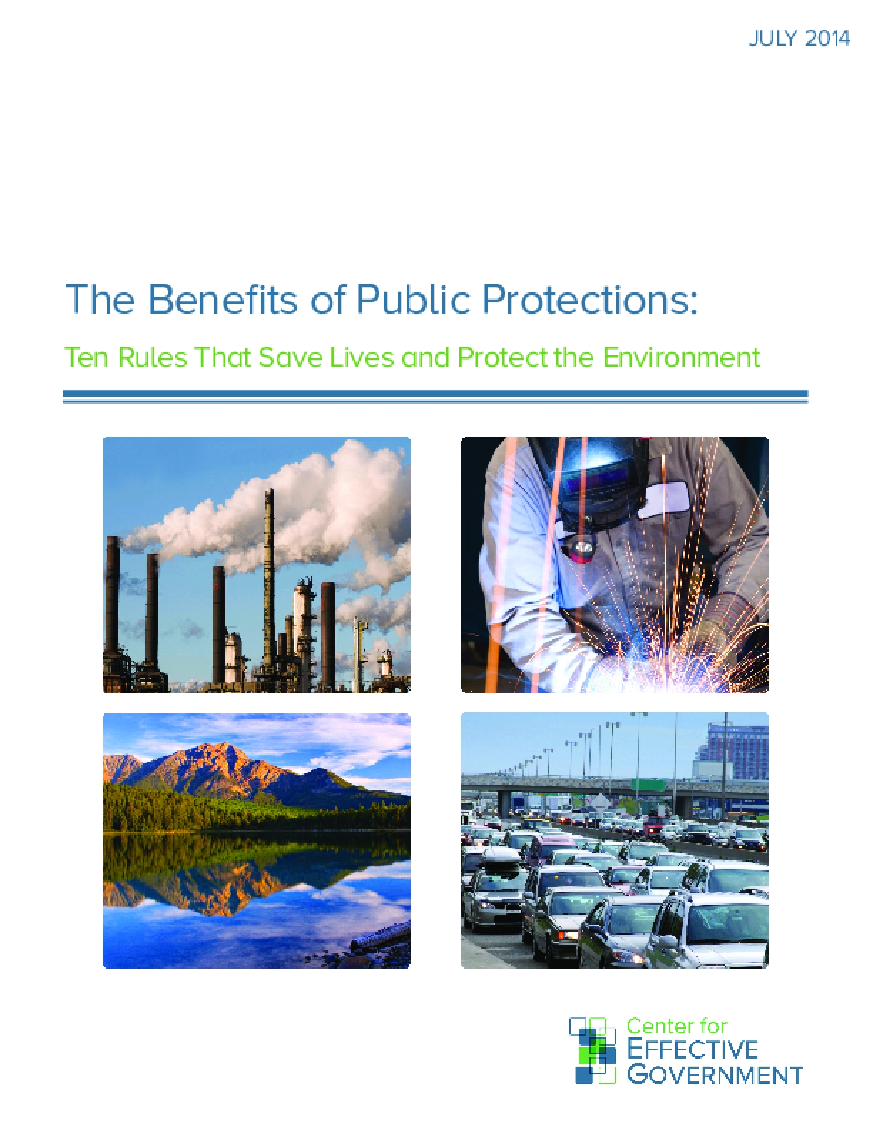 The Benefits of Public Protections: Ten Rules That Save Lives and Protect the Environment