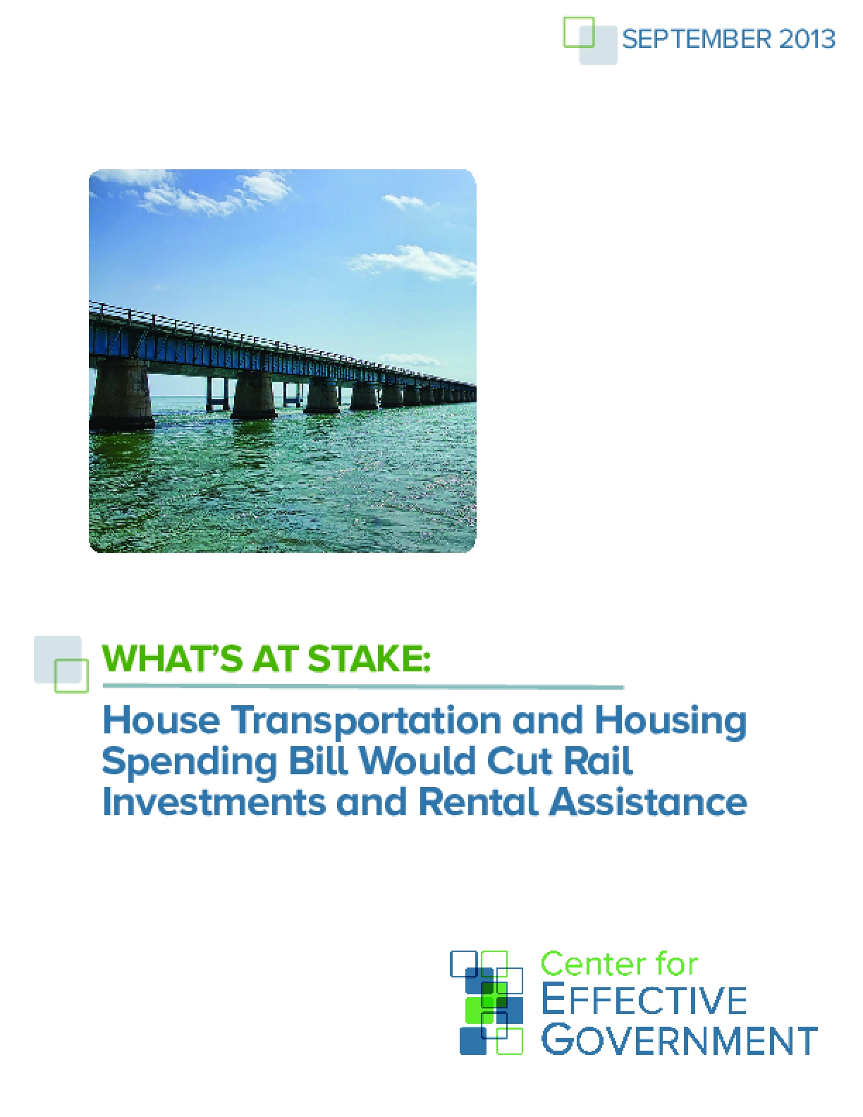 What's At Stake: House Transportation and Housing Spending Bill Would Cut Rail Investments and Rental Assistance