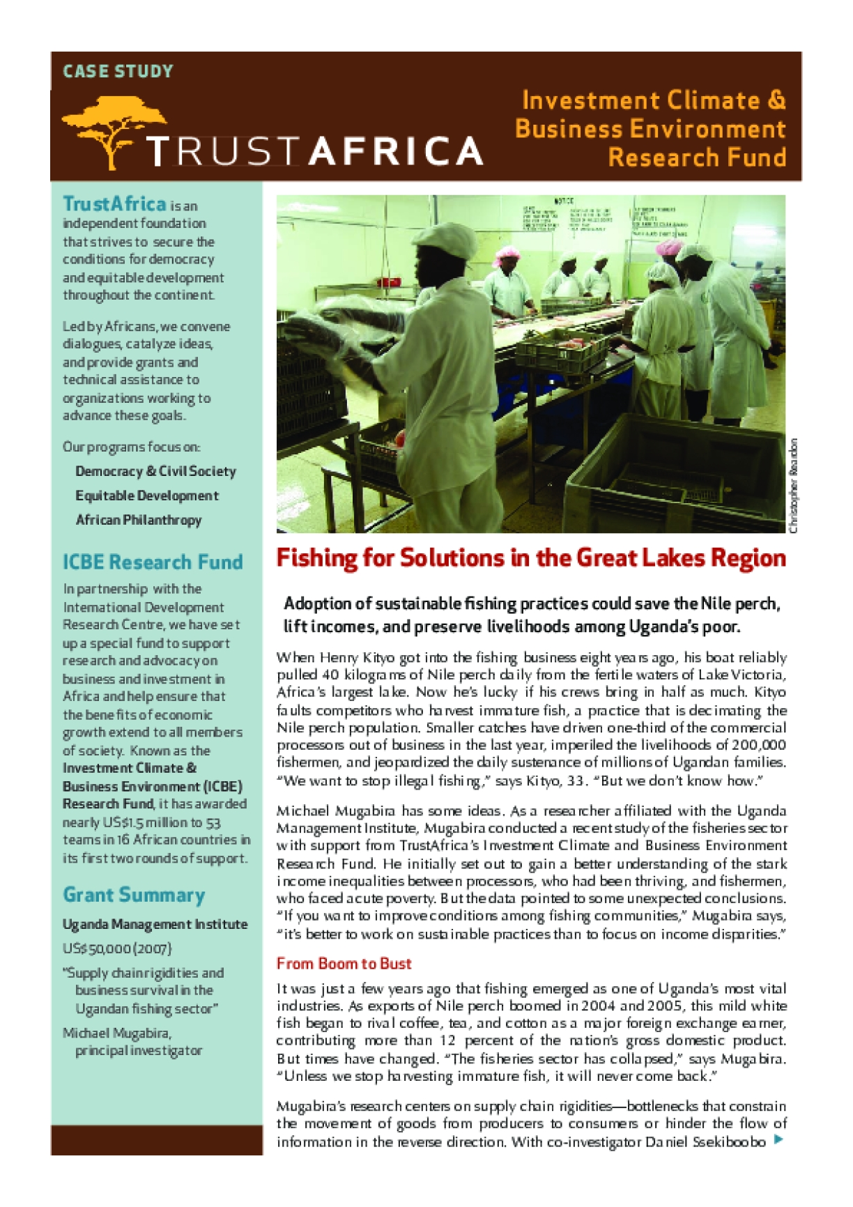 Fishing for Solutions in the Great Lakes Region