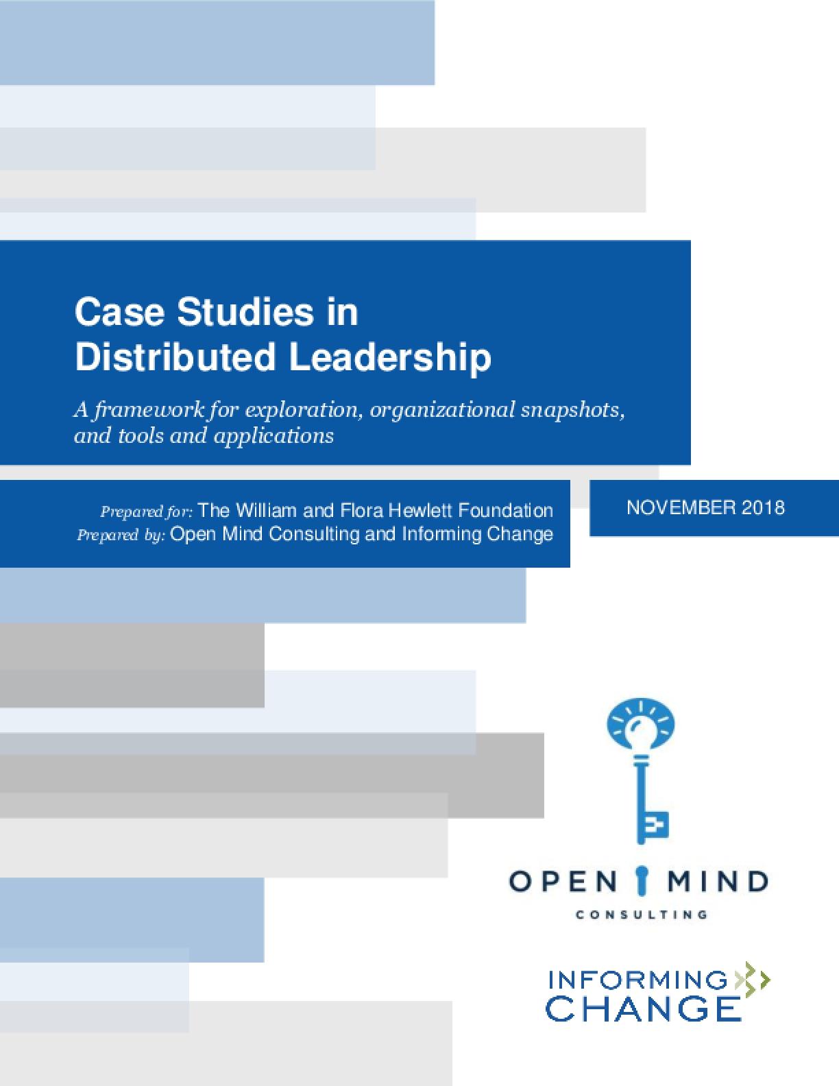 Case Studies in Distributed Leadership