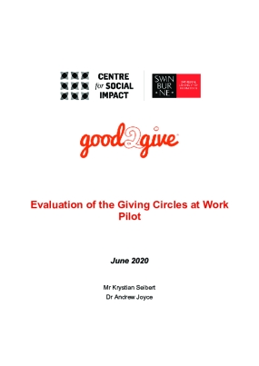 Evaluation of the Giving Circles at Work Pilot