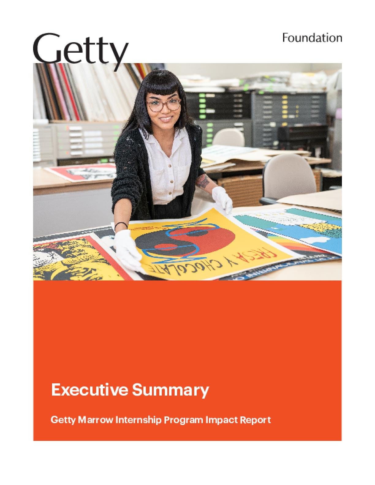 Executive Summary: Getty Marrow Internship Program Impact Report