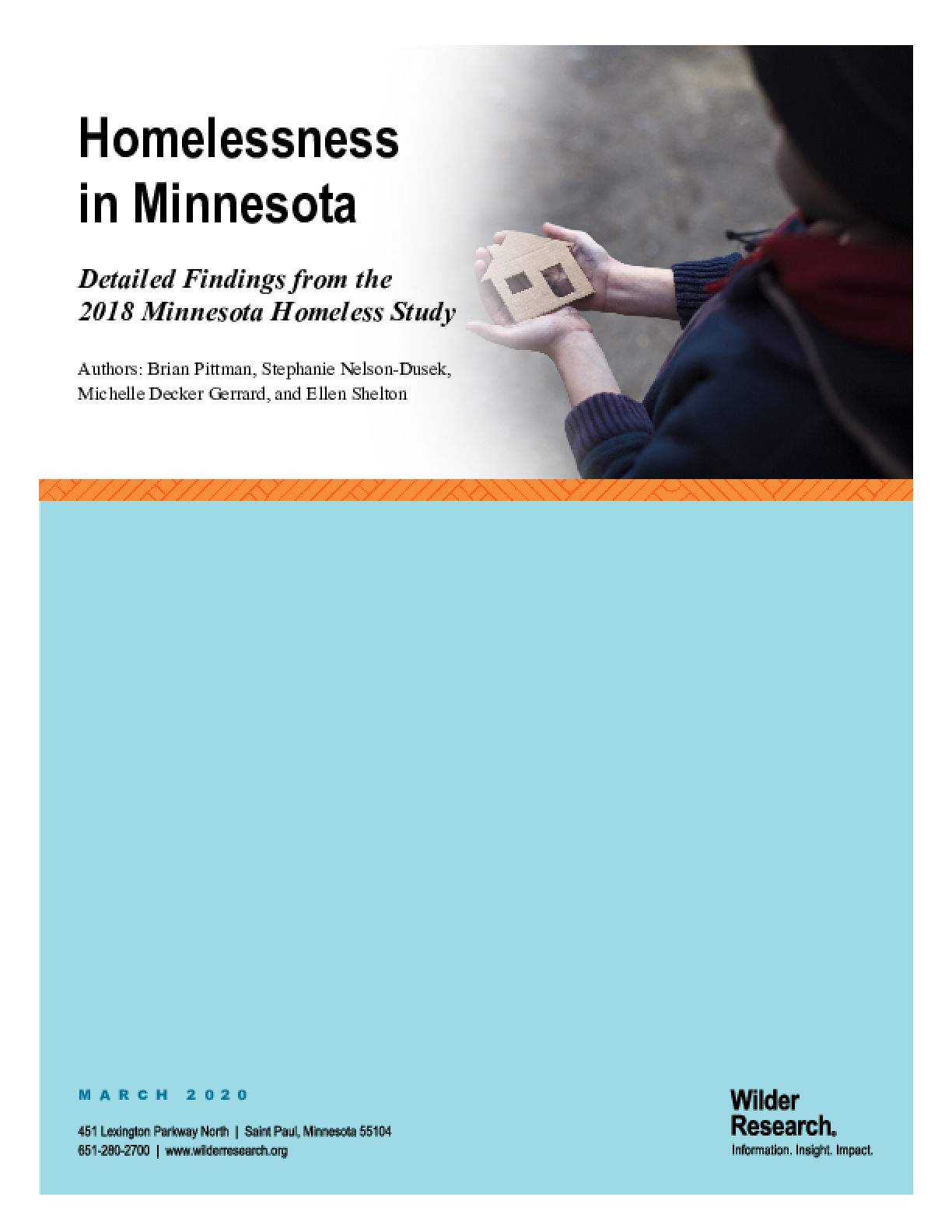 Homelessness in Minnesota: Detailed Findings from the 2018 Minnesota Homeless Study