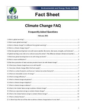Climate Change FAQ
