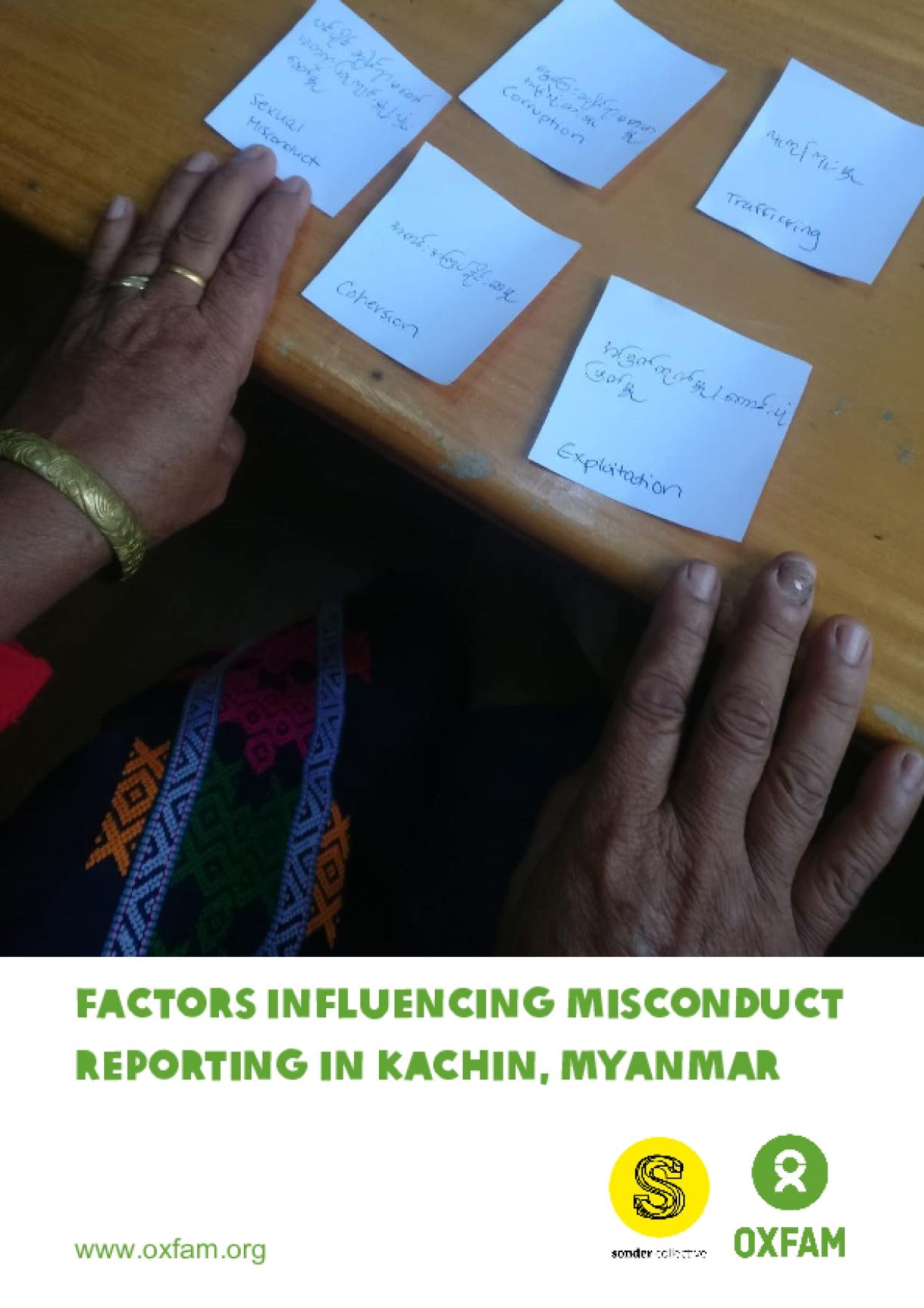 Factors Influencing Misconduct Reporting in Kachin, Myanmar