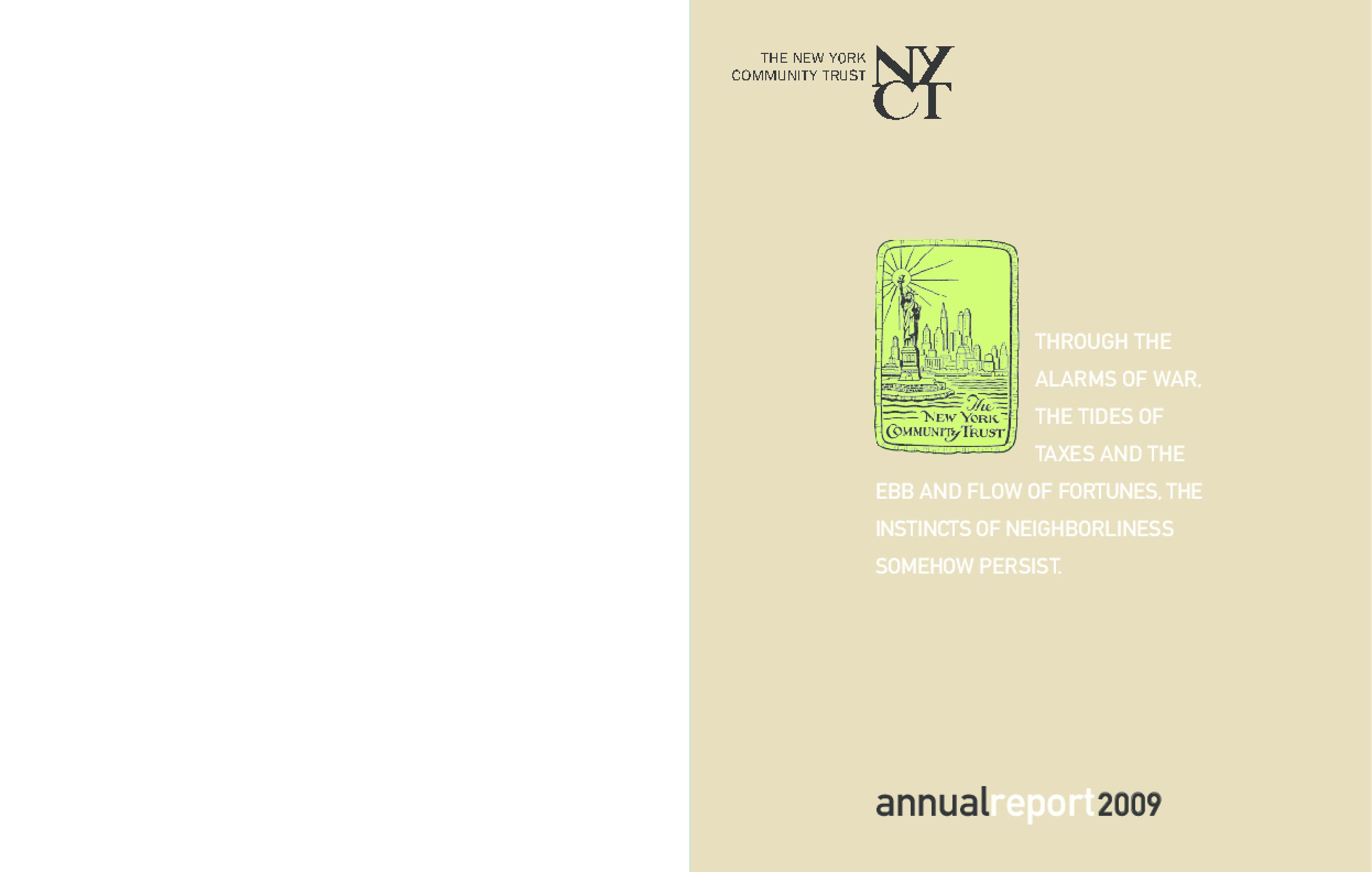 New York Community Trust - 2009 Annual Report