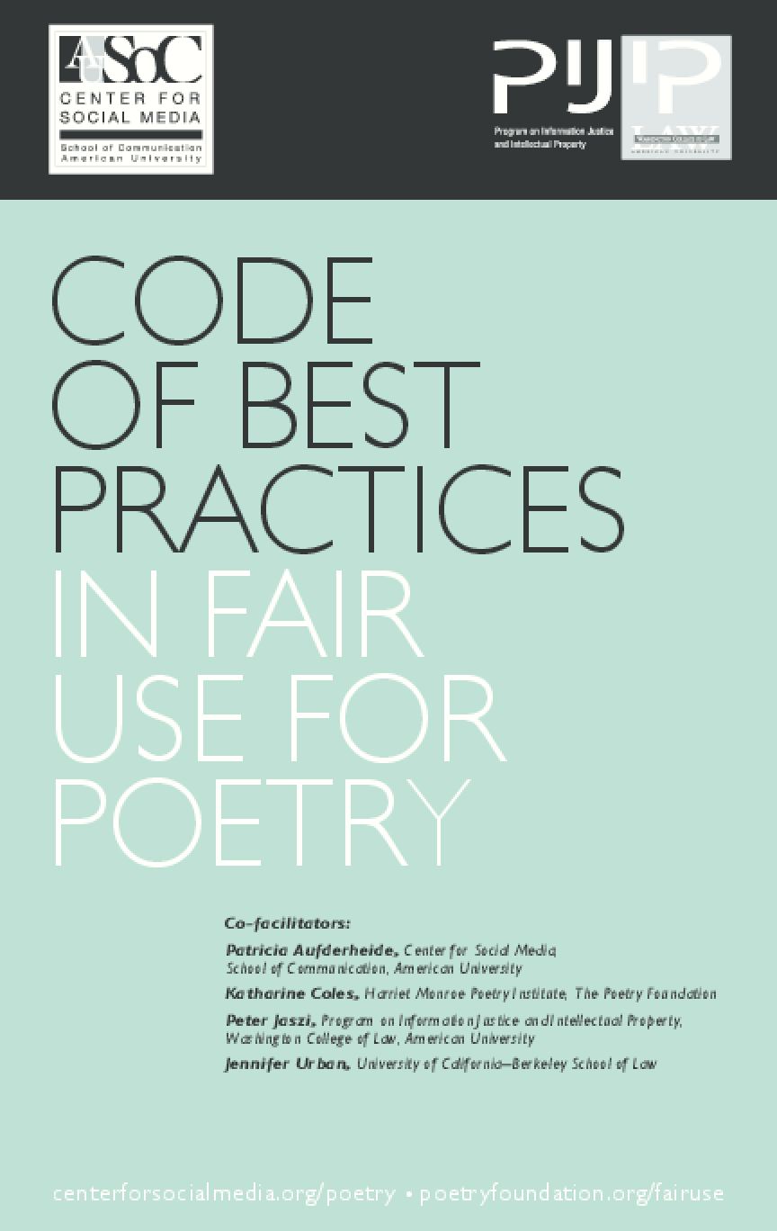 Code of Best Practices in Fair Use for Poetry