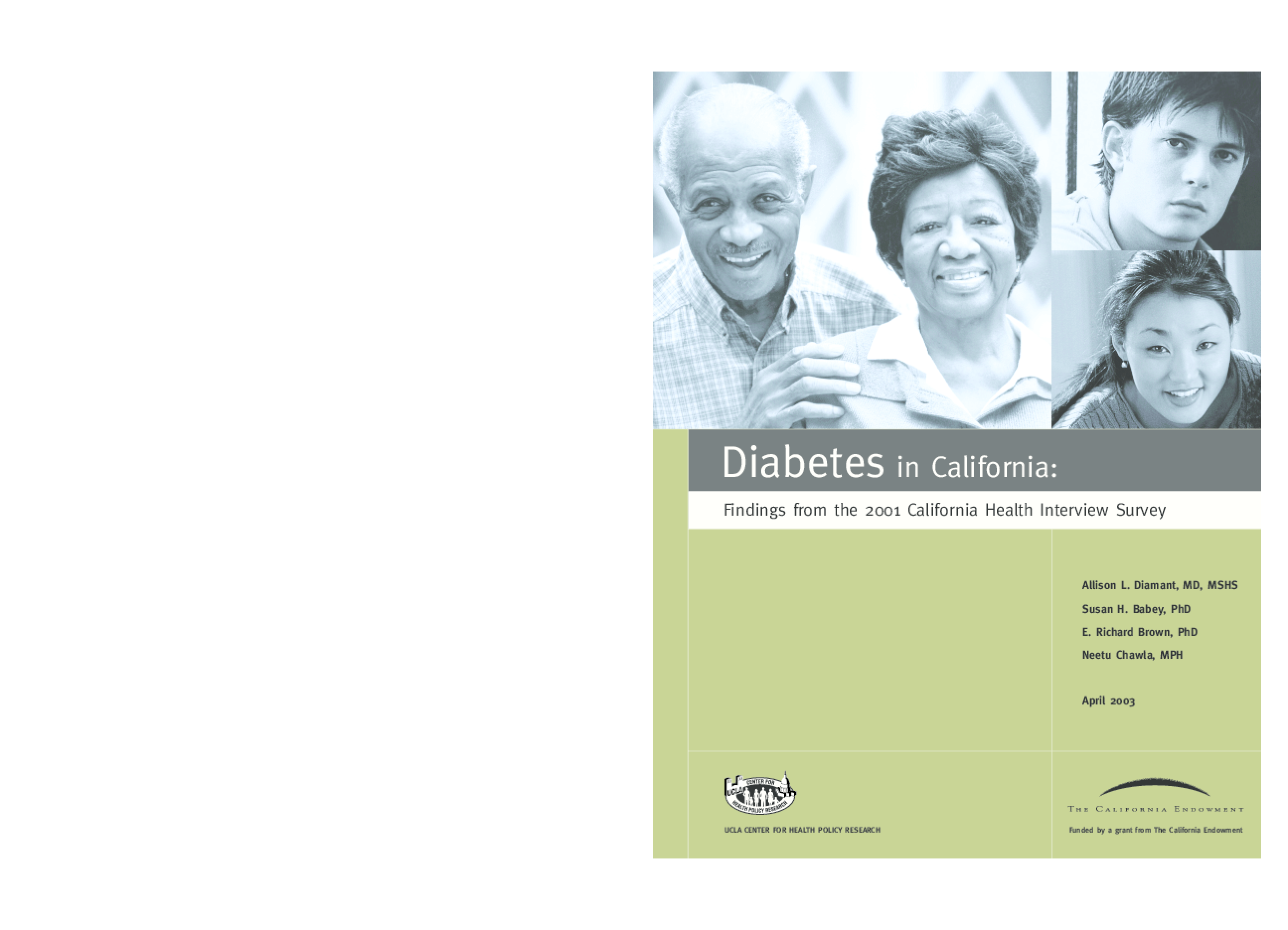 Diabetes in California: Findings From the 2001 California Health Interview Survey