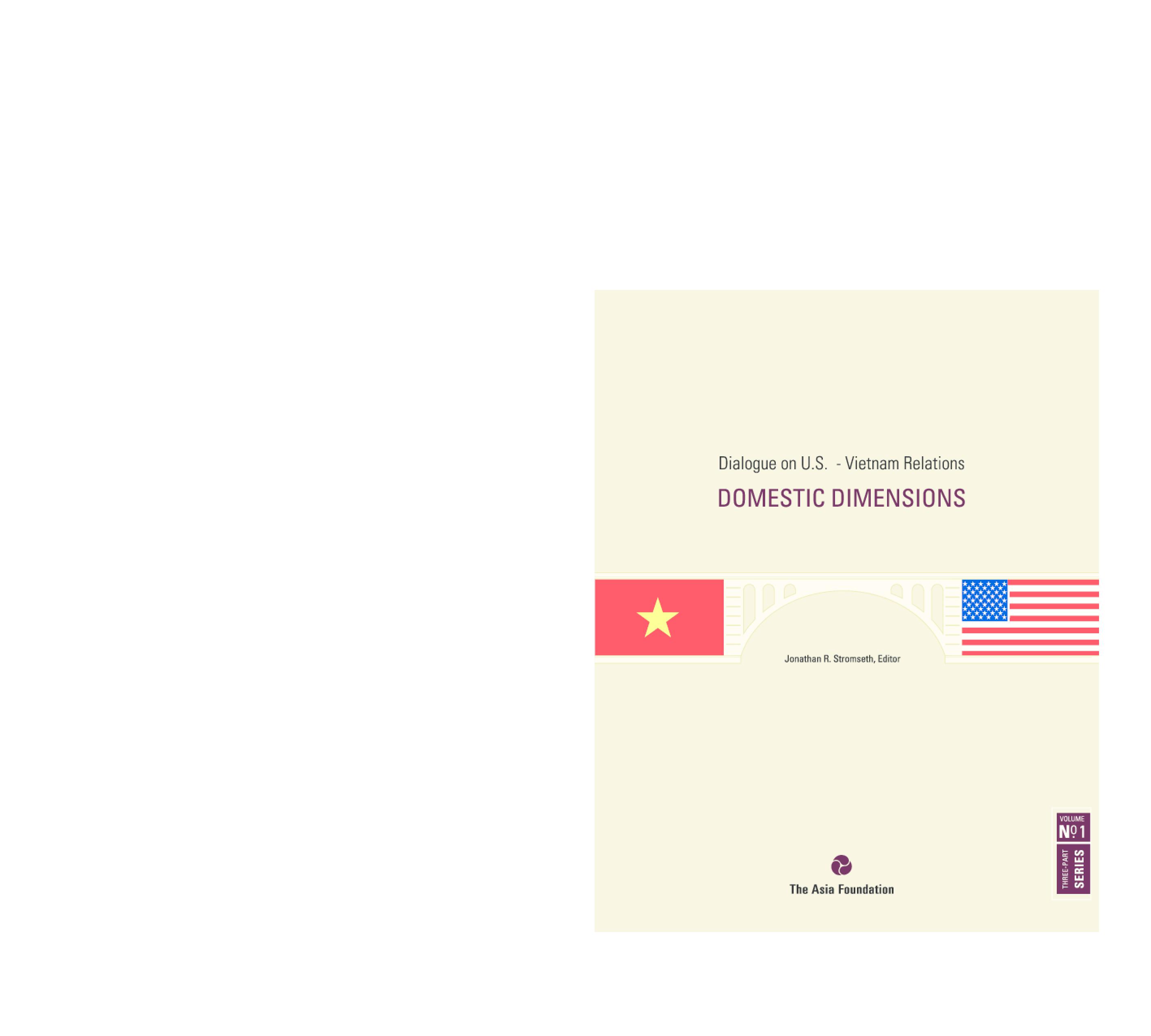 Dialogue on U.S. - Vietnam Relations: Domestic Dimensions