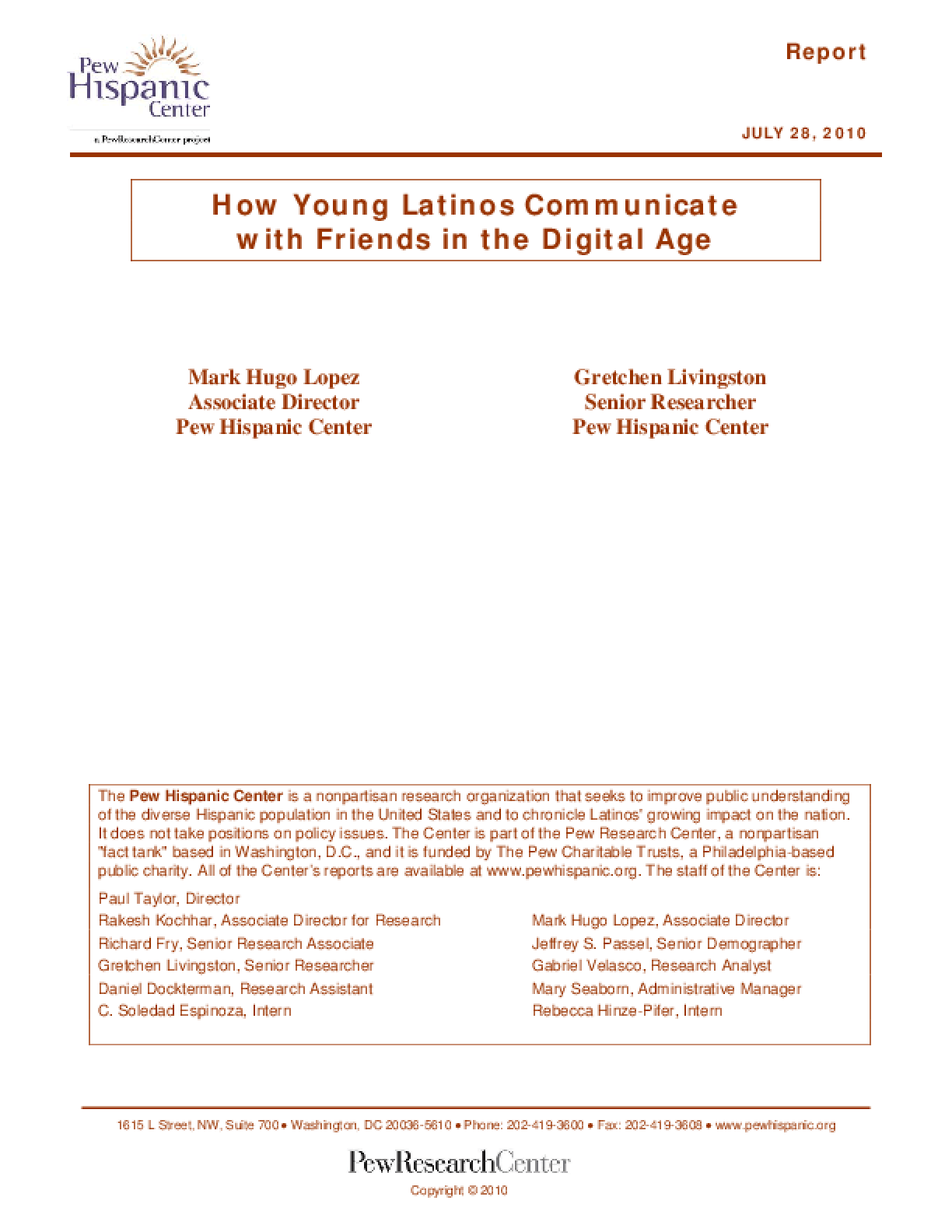 How Young Latinos Communicate With Friends in the Digital Age